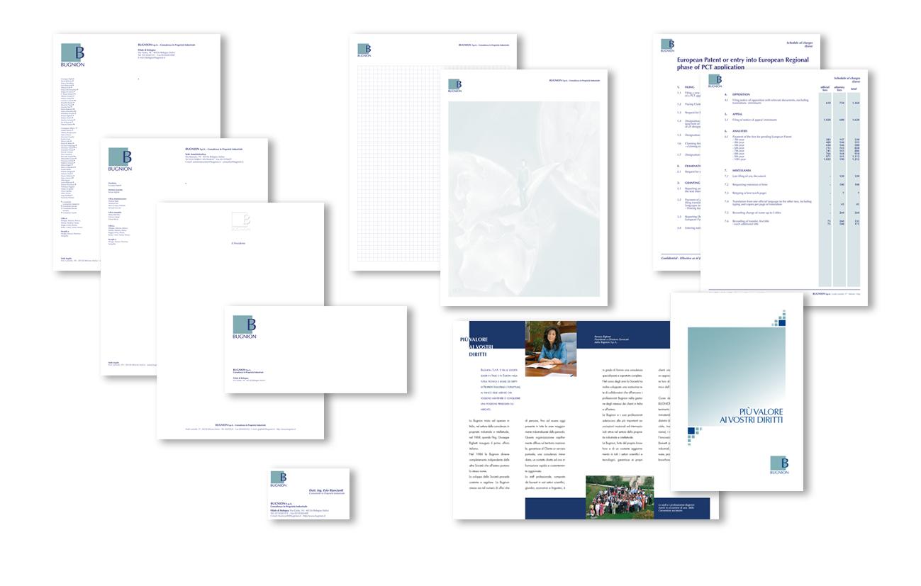 Bugnion S.p.A. – Milano Immagine coordinata istituzionale Settore consulenza e servizi aziendali