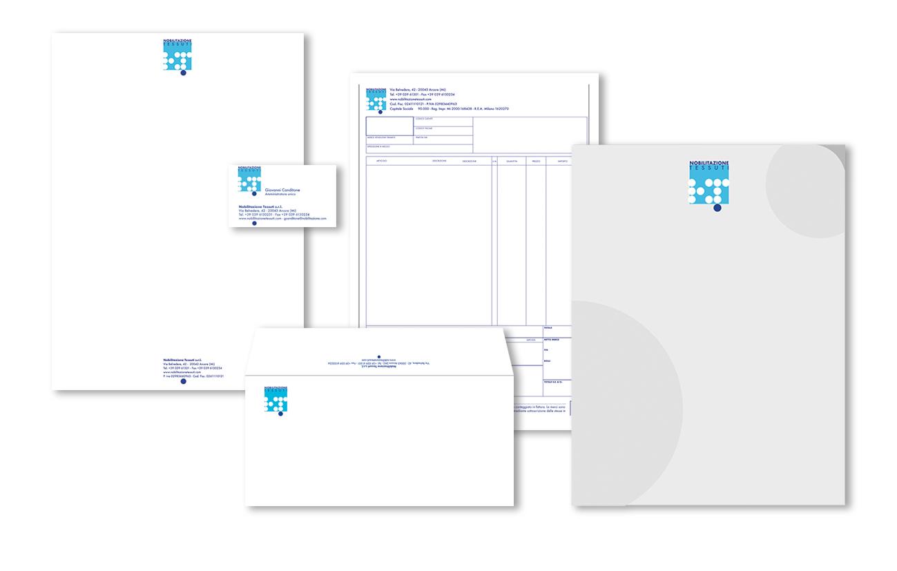 Nobilitazione tessuti S.p.A. – Milano Immagine coordinata istituzionale Settore tessile
