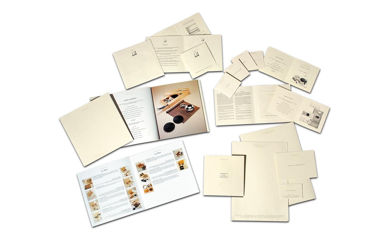 Ghisò – Dolmen srl – Milano Immagine coordinata linea di prodotto Settore gioielleria oggetti regalo