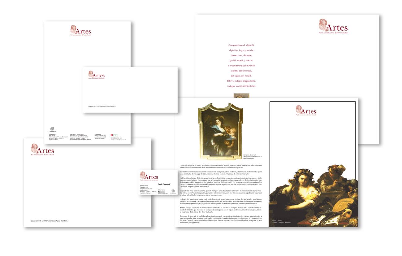 Artes – Gasparoli srl – Varese Immagine coordinata istituzionale Settore arte e restauro