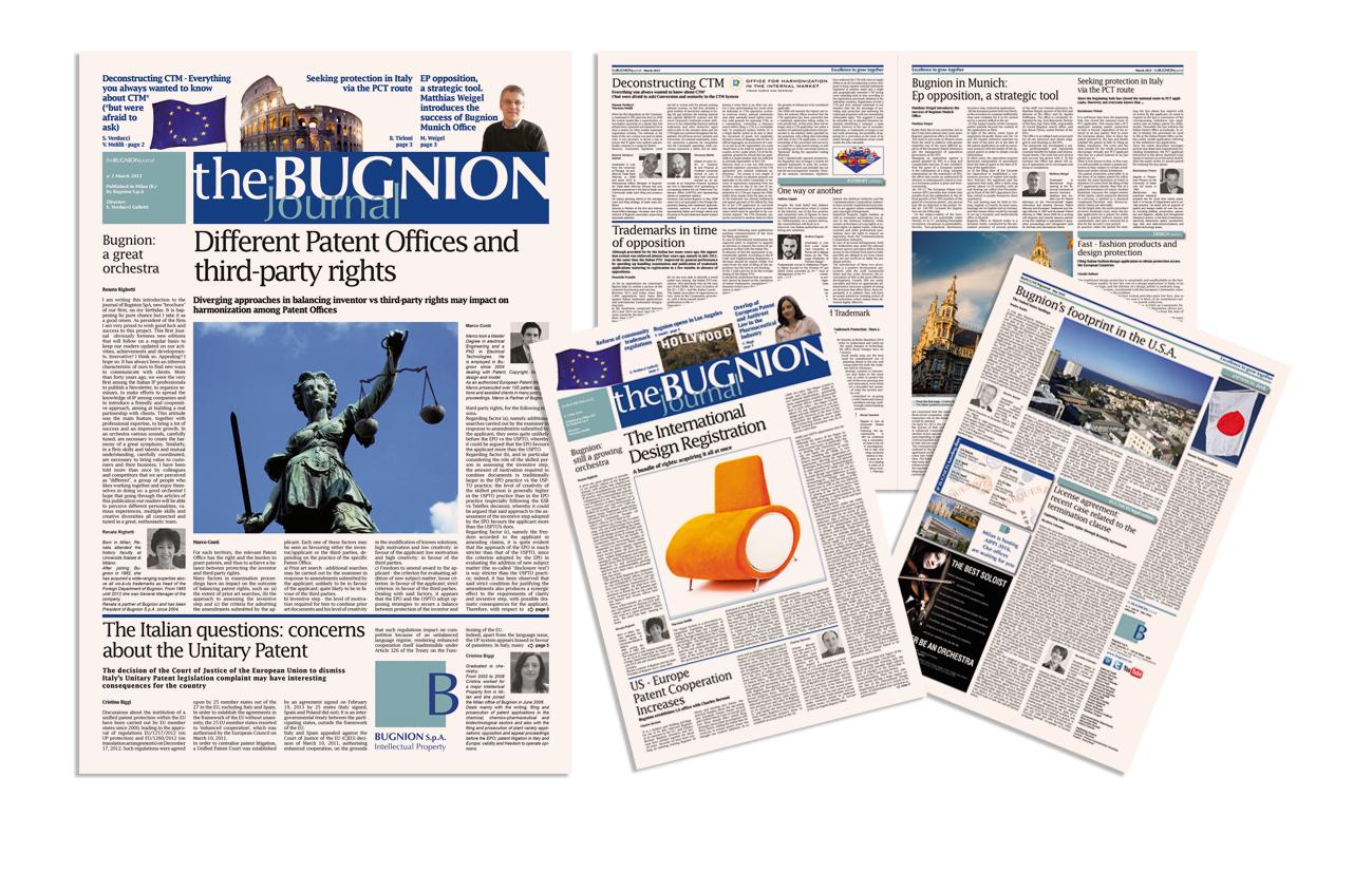 Bugnion journal Periodico informativo aziendale Bugnion S.p.A. - Milano Settore consulenza e servizi aziendali