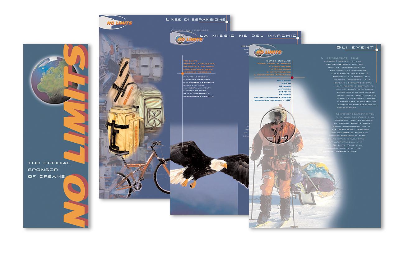 No Limits – Swiss Branch Lugano Brochure istituzionale Settore promozionale