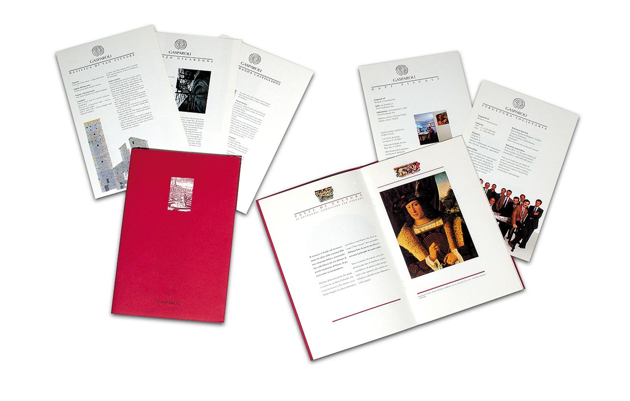 Gasparoli srl - Varese Brochure istituzionale e schede prodotti/servizi Settore edilizia