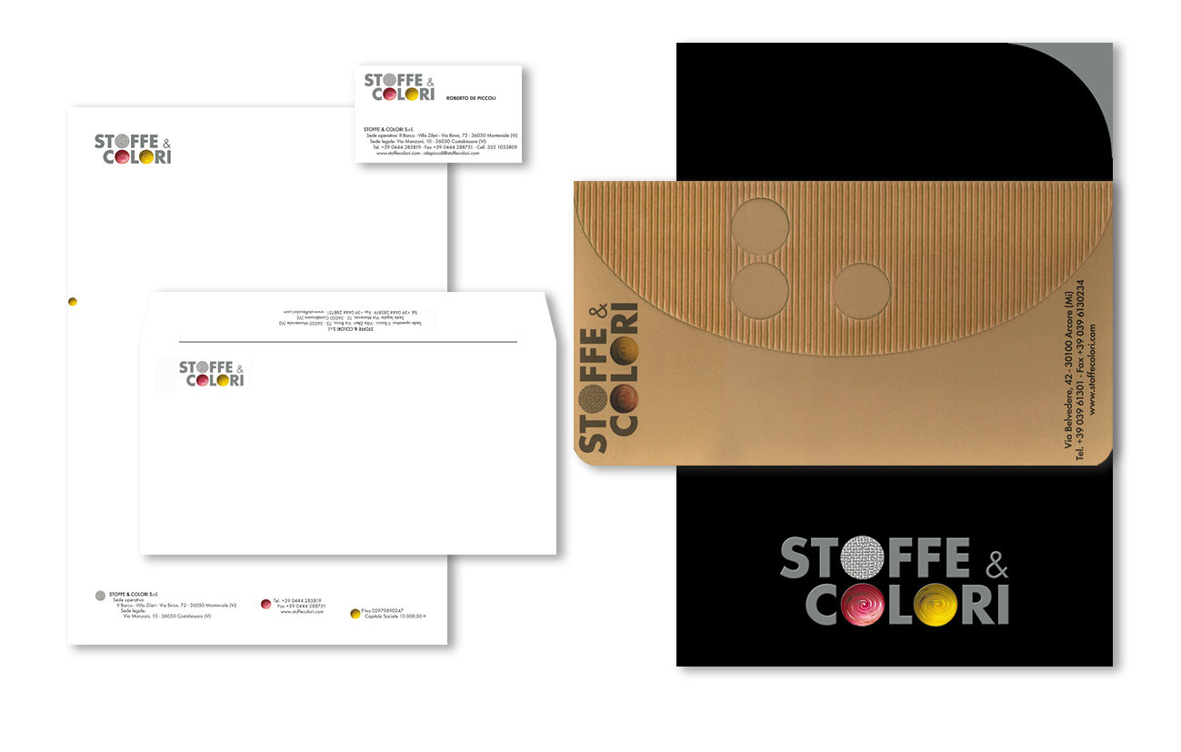 Stoffe & Colori srl – Vicenza Immagine coordinata istituzionale Settore tessile