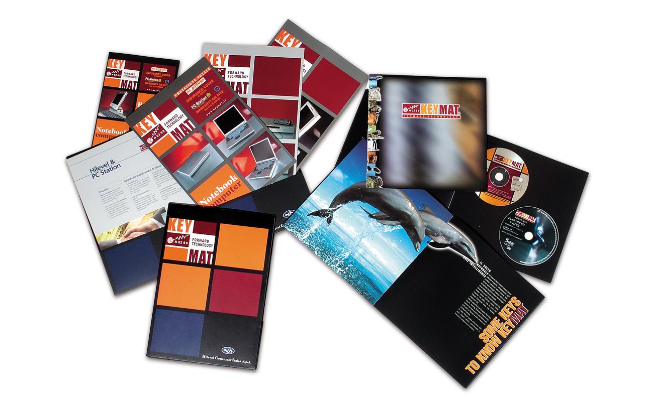 KeyMat – Hilevel Italia S.p.A. – Napoli Immagine coordinata linea di prodotto Settore informatica e tecnologia