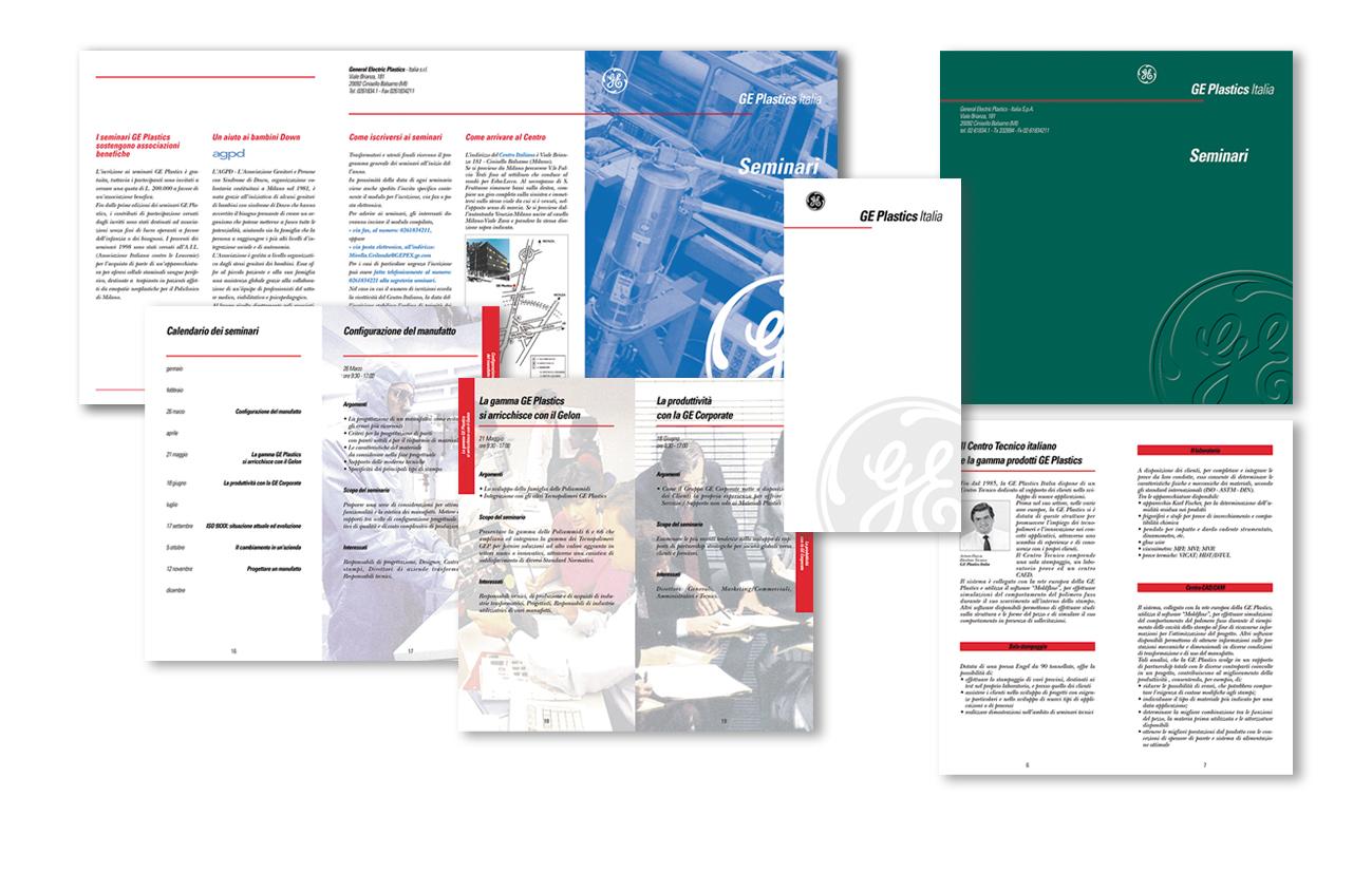 """Ge Plastics Italia S.p.A. – """"Per Ag. Admil Industria"""" Brochure presentazione seminari Settore chimico"""
