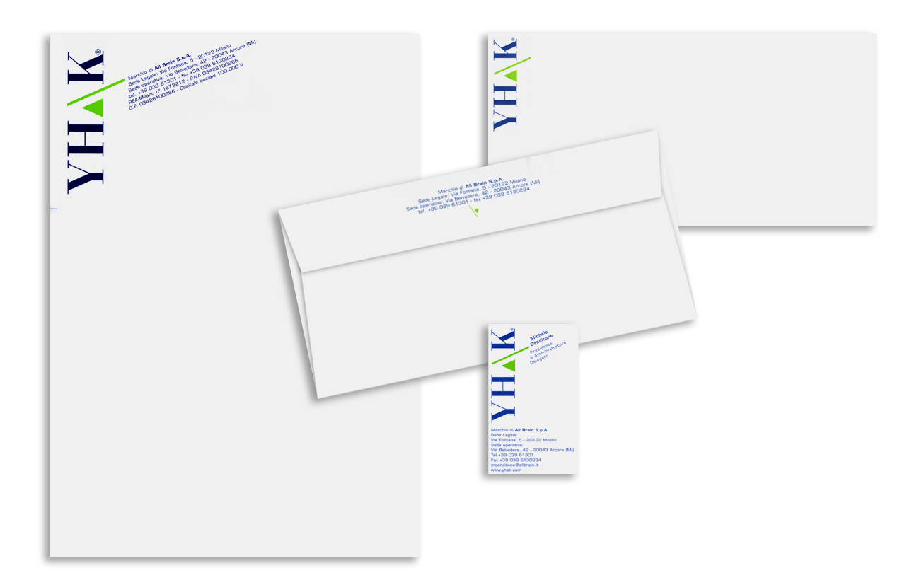 Yahk – All Brain S.p.A. - Milano Immagine coordinata istituzionale Settore consulenza e servizi aziendali