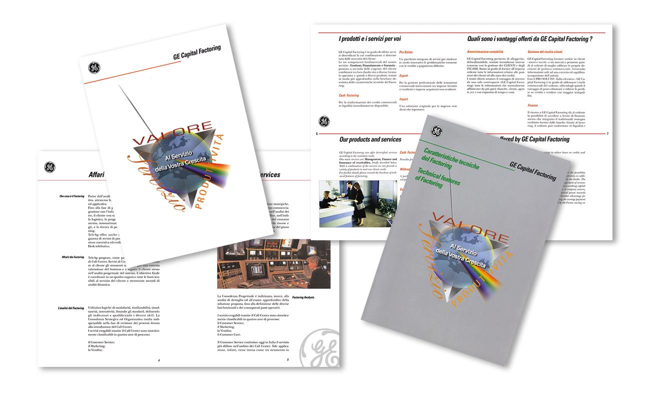 """Ge Capital Factory S.p.A. – """"Per Ag. Admil Industria"""" Serie di brochure di servizi Settore finanziario economico"""