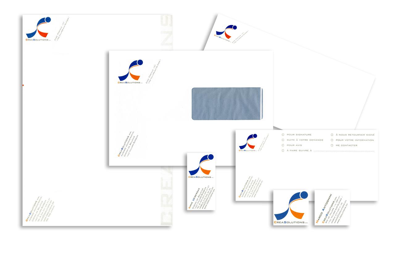 Creasolutions sagl - Villars Sur Glanes – CH Immagine coordinata istituzionale Settore servizi aziendali