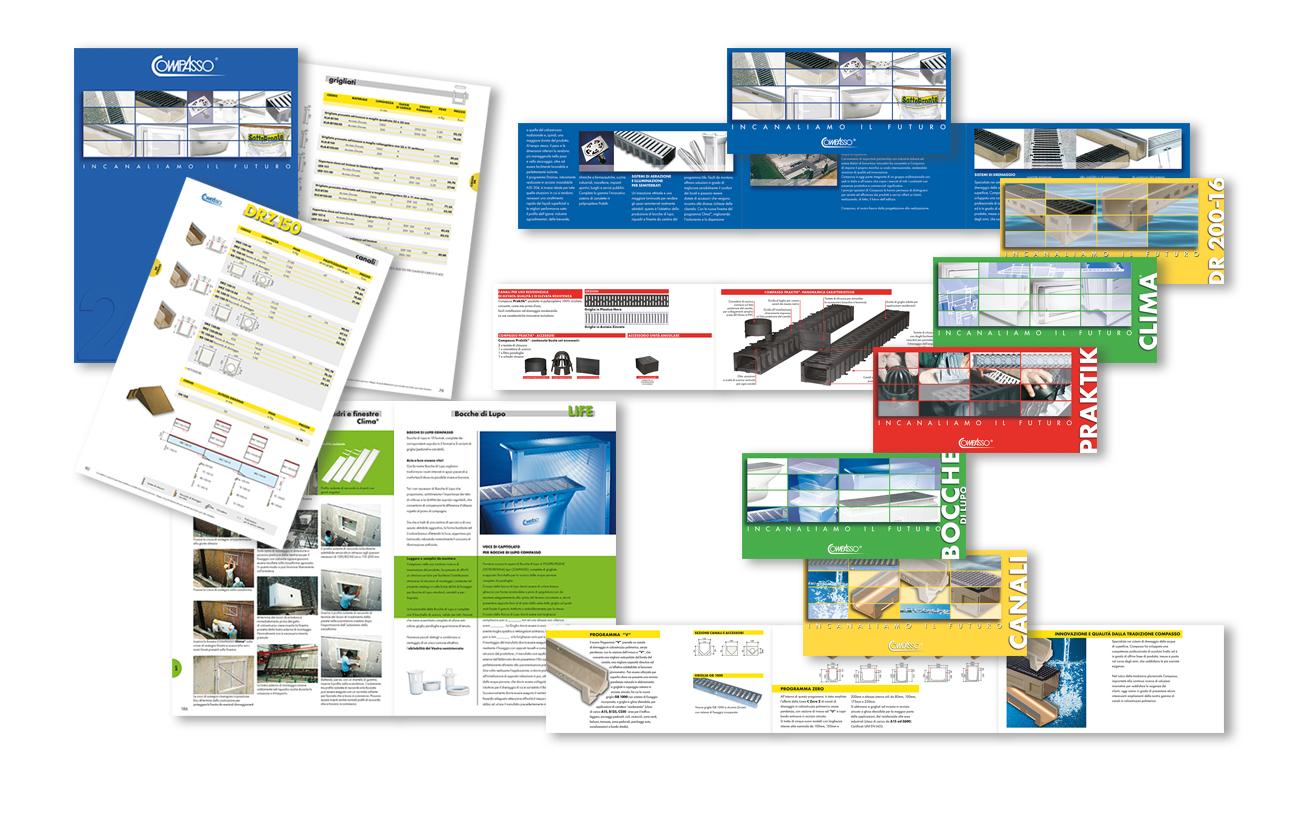 Compasso S.p.A. – Reggio Emilia Cataloghi e leaflet di prodotto Settore edilizia