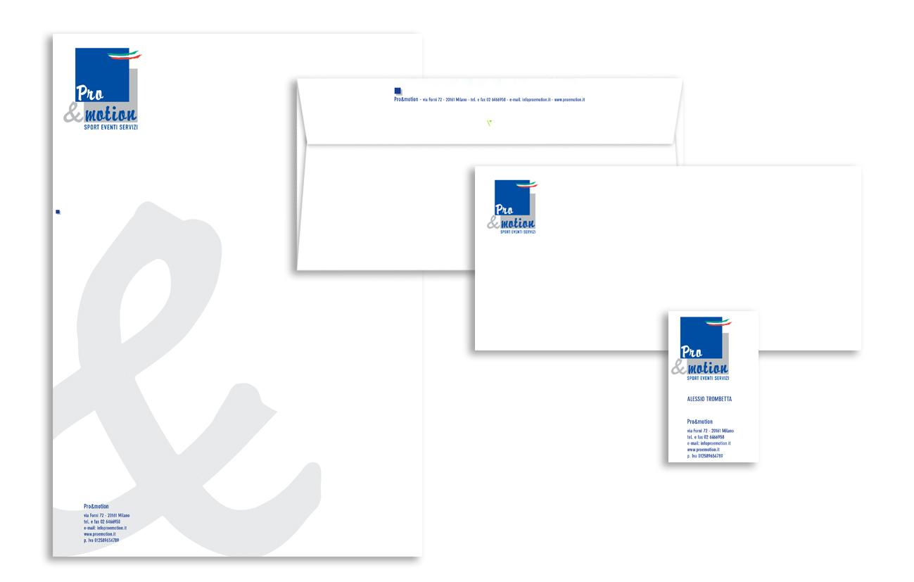 Pro&motion ASD – Milano Immagine coordinata istituzionale Settore eventi e sport